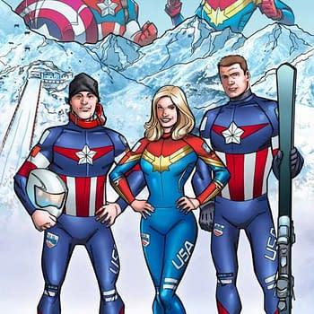 Winter Olympians To Ski Cosplaying As Captain America And Captain Marvel