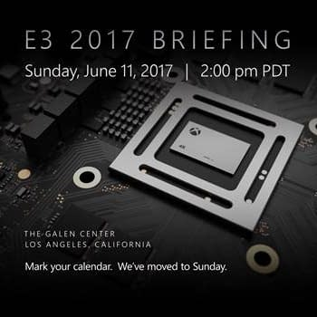 Microsofts XBOX E3 2017 Briefing Moves To Sunday
