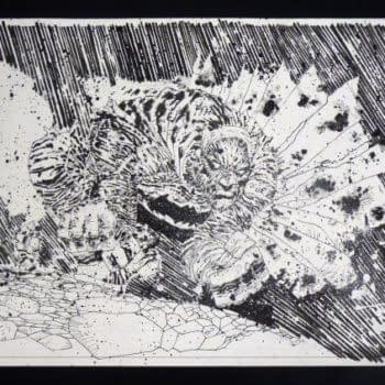 Frank Miller Dark Knight III #6 Cover Original Art Sells For $55,000