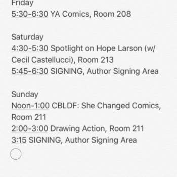 WonderCon Sabotage – Hope Larson's Appearance Nearly Derailed By Idiot