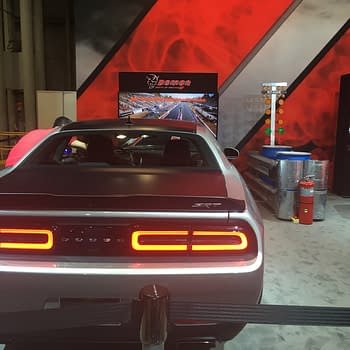 The Dodge Demon Drag Race Challenge At The New York Auto Show
