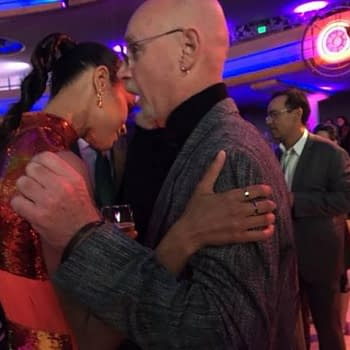 Jim Starlin Chats With Zoe Saldana At The Guardians Of The Galaxy Vol. 2 Premiere After-Party