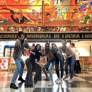 Five Cast Members Of The CWs Riverdale Walk Into A Mexican Wrestling Show&#8230