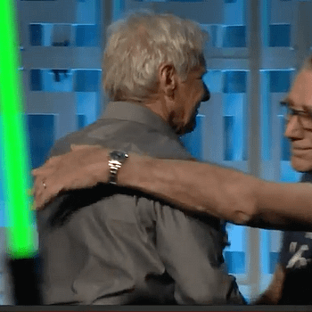 #HugLife: Reunited Han And Chewie Share A Hug During Star Wars 40th Anniversary Panel At #SWCO
