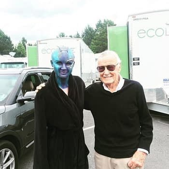 Stan Lee Makes Cameo On Guardians Of The Galaxy Star Karen Gillans Instagram