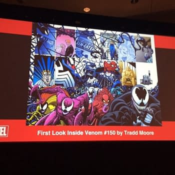 See Brand New Tradd Moore Venom #150 Interior Art Revealed For The First Time At C2E2
