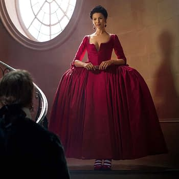 Outlanders Red Dress Debate Continues To Cause A Stir