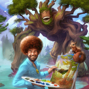 Trees Have Never Looked So Menacing – Bob Ross Is Now A Character Skin On Smite
