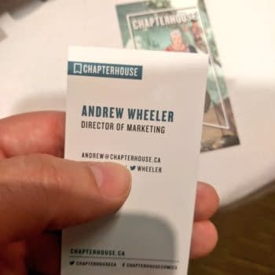 Andrew Wheeler, Director Of Marketing For Chapterhouse Comics