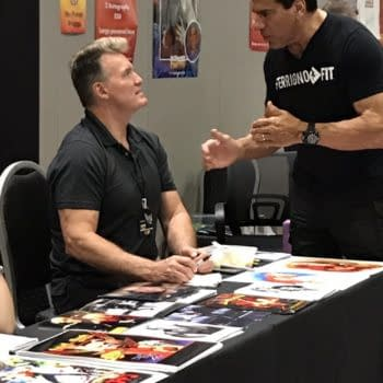 Where's The Beef? Flash Gordon And Incredible Hulk Actors Purportedly Go Nose-To-Nose At London Comic Con