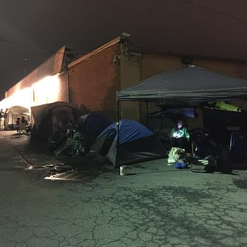 Camping Out Overnight In Line For FCBD At Third Eye Comics In Annapolis, Maryland