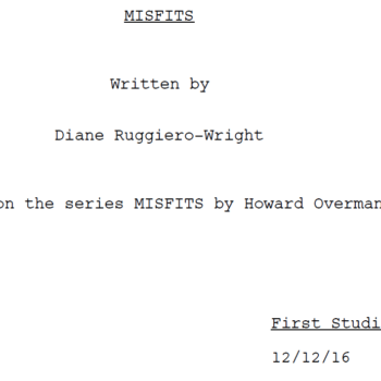 I've Just Read Diane Ruggiero-Wright's Script For The US Remake Of Misfits