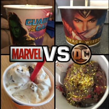 Nerd Food: Wonder Woman Ice Cream Vs Guardians of the Galaxy Blizzard. Which Is Better?!