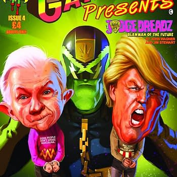 John Wagner Writes Parody Judge Dredd Strip Judge Dreadz For Ganjaman