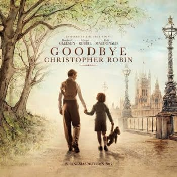 Check Out The First Poster For Goodbye Christopher Robin; That's The One Starring Domhnall Gleeson And Margot Robbie