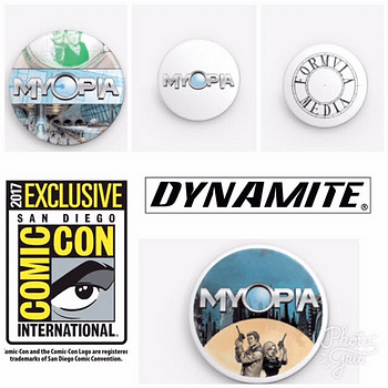 San Diego Comic-Con SDCC Exclusives: Myopia Pins For Dynamite Comic Book