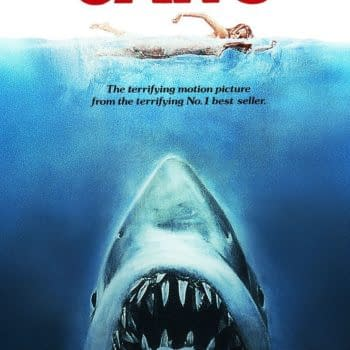 The official poster for Jaws. Credit: Universal Pictures.