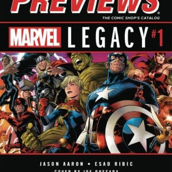 Marvel Legacy And Dark Nights: Metal On Front And Back Of Next Week's Diamond Previews – And Sean Rubin's Bolivar On The Inside