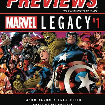 Marvel Legacy And Dark Nights: Metal On Front And Back Of Next Weeks Diamond Previews &#8211 And Sean Rubins Bolivar On The Inside