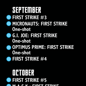 First Strike #0 Checklist From IDW And Hasbro – The Launch Of GI Joe Unmasked, Rom & The Micronauts, And Something Classified For December