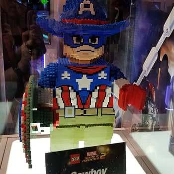 D23: Life-Size LEGO Statues Spidey Buzz Woody And Cowboy Cap