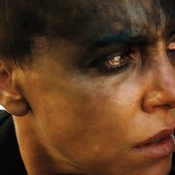Charlize Theron as Furiosa in Mad Max: Fury Road. Image courtesy of Warner Bros.