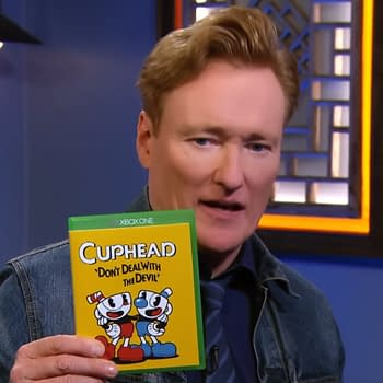 Watch Conan OBrien And Kate Upton Play Cuphead