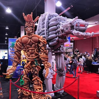 Balloon Versions Of Groot And An AT-AT Stand Guard At D23