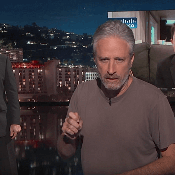 Jon Stewart Crashes Interview With Boy Who Had Jimmy Kimmel-Themed Bar Mitzvah