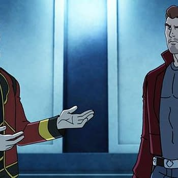 The Guardians Protect Nova From Star-Lords Father In Guardians Of The Galaxy Animated Series Clip