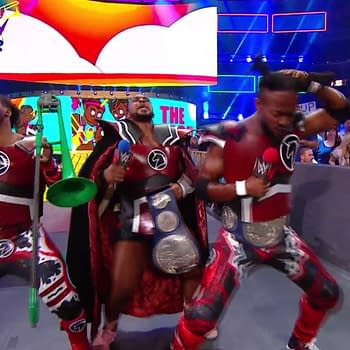 New Day The Purveyors Of Positivity Dress As Red Lanterns At SummerSlam