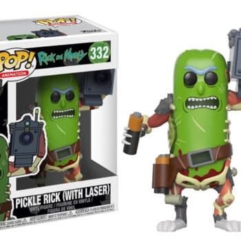 Pickle Rick Funko Pop With Laser