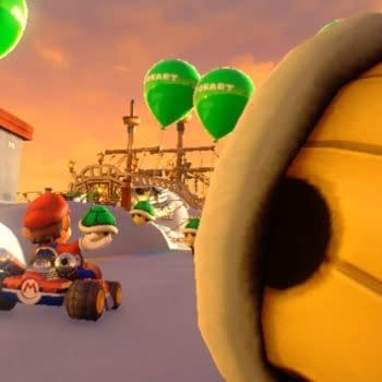 Check Out This Footage Of 'Mario Kart Arcade GP' In A VR Arcade