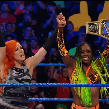 Lots Of Fire And Glow In The Womens Tag Team Match On SmackDown Live