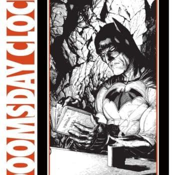 Batman Snoops Through Rorschach's Journal In Doomsday Clock NYCC Artwork