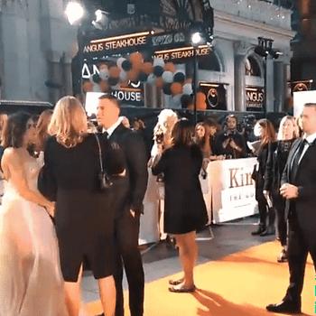 Walking The Orange Carpet Of Kingsman 2 World Premiere Introduced By Matthew Vaughn
