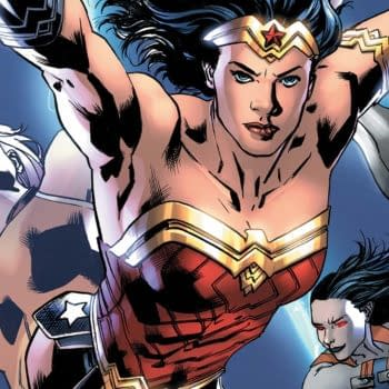 Cover to Wonder Woman #31 by Bryan Hitch and Alex Sinclair