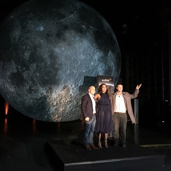 Andy Weir Rosario Dawson And Luke Jerram Light The Moon At Audible NYCC