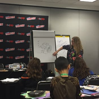Katie Cook Teaches Kids To Draw At NYCC