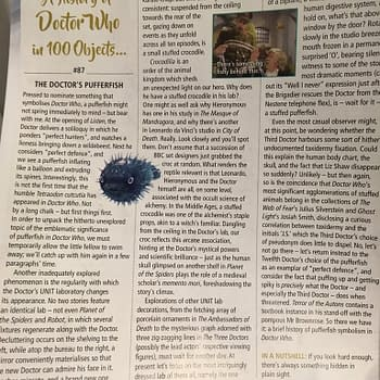 Doctor Who Magazine Writer Hides Secret Message That We Cant Print In This Headline