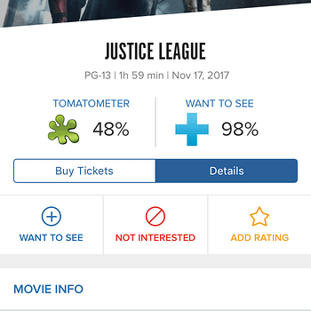 Justice Leagues Secret Rotten Tomatoes Score Is Reportedly 48%