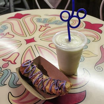 Nerd Food: Cheshire Cat Tail And Minute Maid Lemonade Slush From Cheshire Cafe