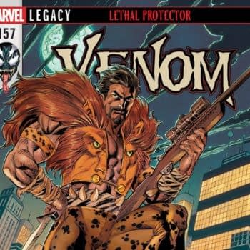 Venom #157 cover by Mark Bagley, John Dell, and John Rauch