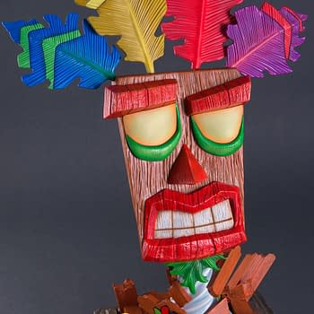A Life-Size Crash Bandicoot Aku Aku Mask For The Gamer In Your Life