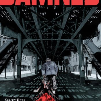 Damned #6 cover by Brian Hurtt and Bill Crabtree