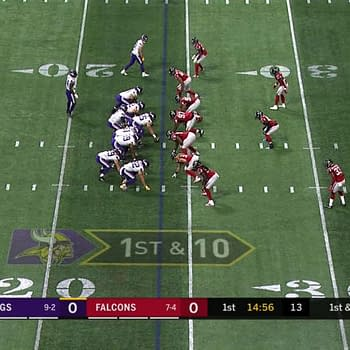Vikings and Falcons Square off on a Slightly off Field