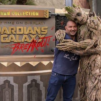 Drax and Groot Hang out at Disneys California Adventure