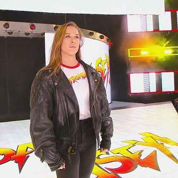Ronda Rousey In Roddy Pipers Jacket Points To Future With WWE