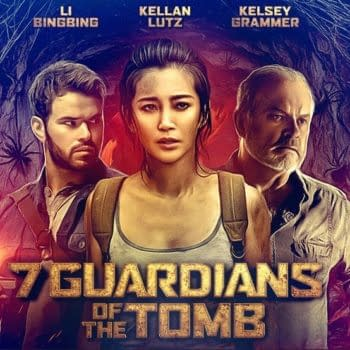 James Gunn Compliments Font on Poster for New Kelsey Grammar Flick 7 Guardians of the Tomb