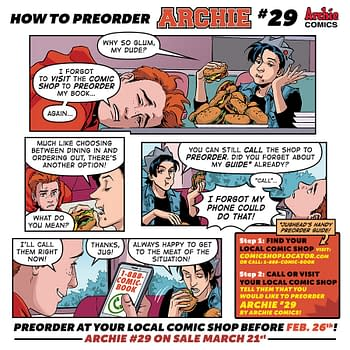 In New Mini-Comic Jughead Shows Archie How to Pre-Order Archie #29 Before FOC